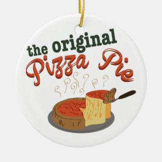 Original Pizza Pie Christmas Ornament