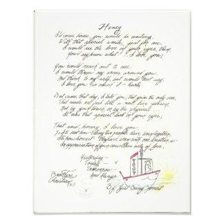 Original Poem's & Art By Faith Too Faith Missions. Photographic Print