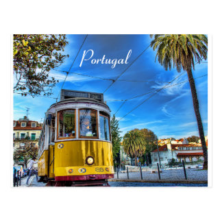Original Portugal Tram Postcard