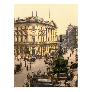 Original poster of Piccadilly circus in 1890 s Postcard