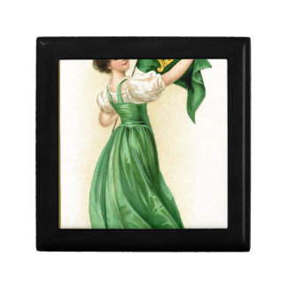 Original poster of St Patricks Day Flag Lady Gift Box