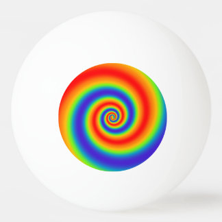 Original Rainbow Gradient Colorful Spiral Effect Ping Pong Ball