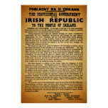 Original Re-Print Irish Proclamation Easter 1916 Poster