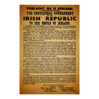 Original Re-Print Irish Proclamation Easter 1916