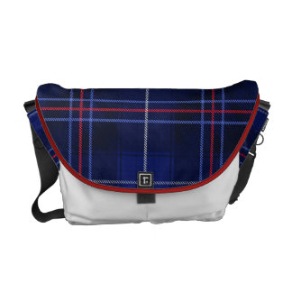 Original Red, White and Blue Tartan Plaid Pattern Commuter Bags