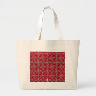 Original retro 60s circles and diamonds red canvas bags