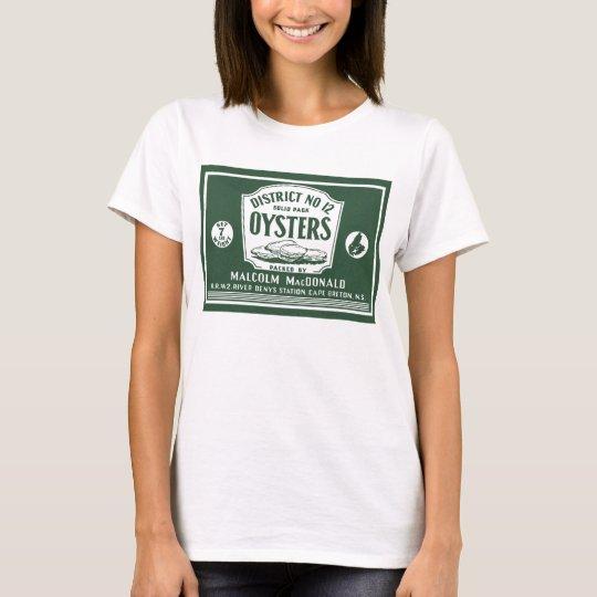 Original Retro Cape Breton Oysters Label T-Shirt