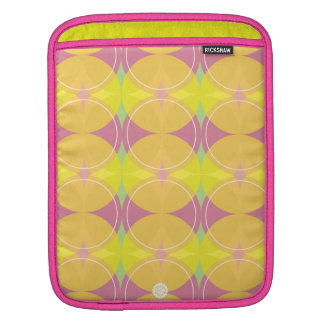 original Retro circles/diamonds in yellow & pink Sleeve For iPads