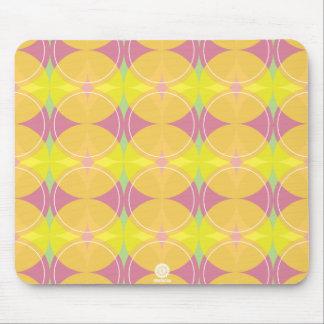original Retro circles/diamonds in yellow & pink Mouse Pad