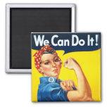 Original Rosie The Riveter Square Magnet