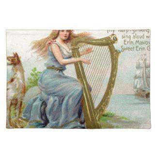 Original Saint patrick's day harp & lady Placemat