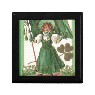 Original Saint patrick's day lady vintage poster Gift Box
