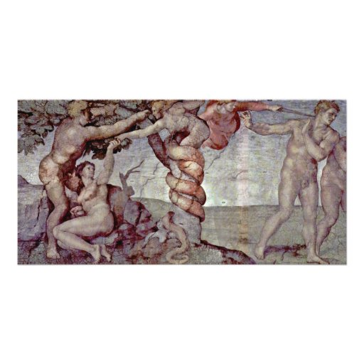 Original Sin And Expulsion From Paradise By Michel Photo Card