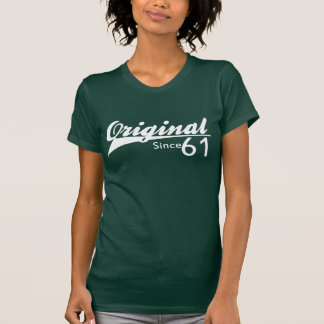 Original Since 61 Baseball Inspired Birthday TEE