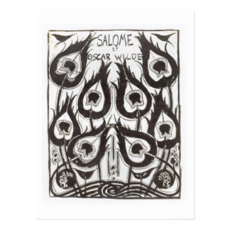 Original sketch for the cover of 'Salome' by Oscar Postcard
