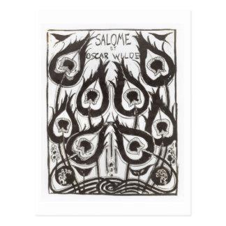 Original sketch for the cover of 'Salome' by Oscar Postcard