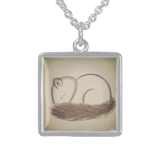 Original Sleeping Squirrel Sterling Silver Necklace