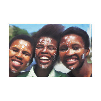 Original Smiling Africa Canvas Print