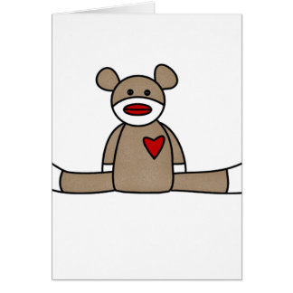 Original Sock Monkey Greeting Card