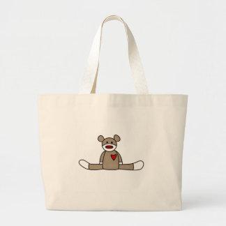 Original Sock Monkey Jumbo Tote Bag