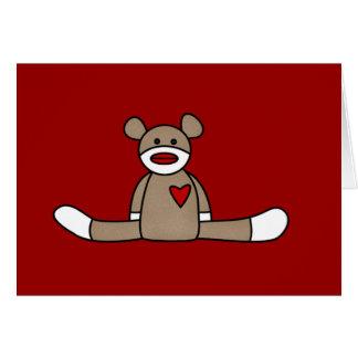 Original Sock Monkey Tshirts and Gifts Greeting Card