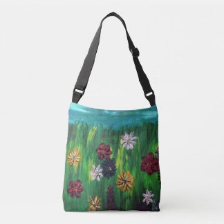 Original spring wildflower cross-body tote