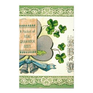 Original St Patrick's day vintage irish draw Stationery