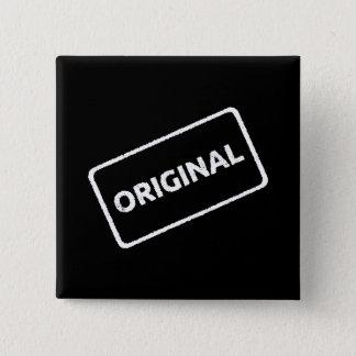 Original Stamp 15 Cm Square Badge