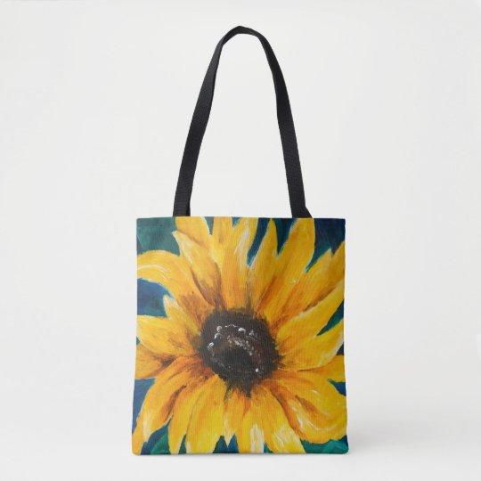 Original Sunflower Print on Tote Bag