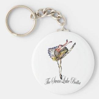 Original Swan Lake Ballet by Latidaballet! Basic Round Button Key Ring