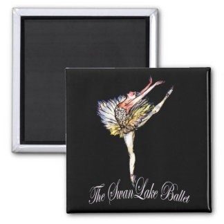 Original Swan Lake Ballet by Latidaballet! Square Magnet