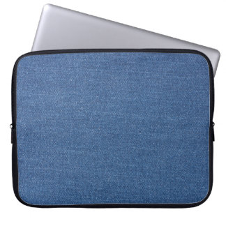 Original textile fabric blue fashion jean denim laptop sleeve