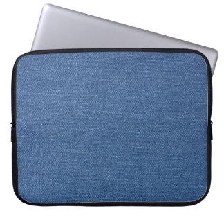 Original textile fabric blue fashion jean denim laptop sleeves