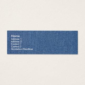 Original textile fabric blue fashion jean denim mini business card