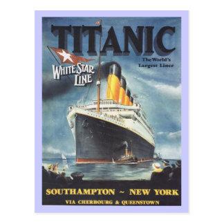 Original Titanic poster Postcard