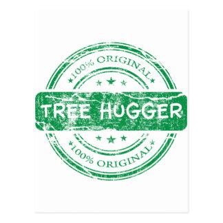 Original Tree Hugger Postcard
