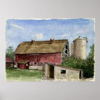 Original Trescher Barn - poster