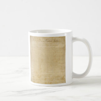 Original United States Constitution Bill of Rights Basic White Mug