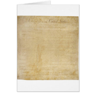Original United States Constitution Bill of Rights Greeting Card