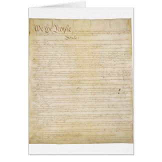 Original United States Constitution Page 1 Greeting Card