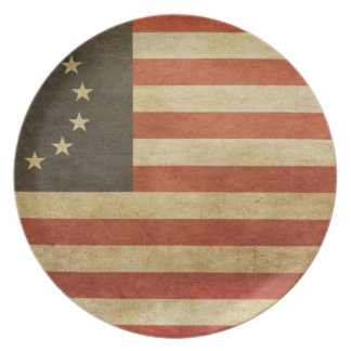 Original United States Flag Party Plate