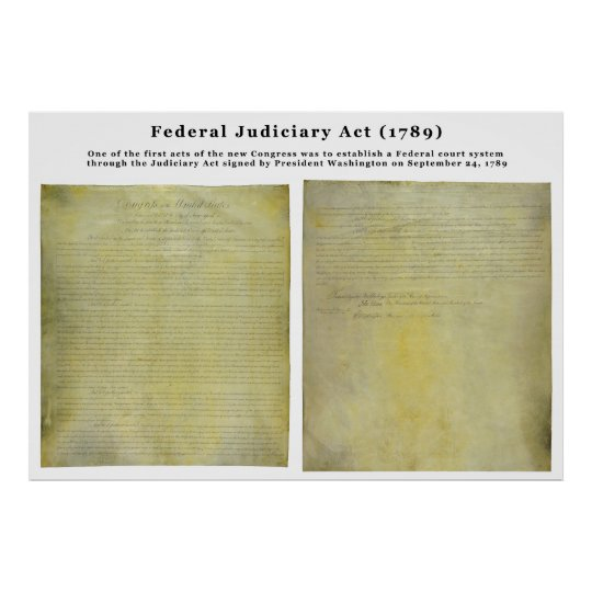ORIGINAL United States Judiciary Act of 1789 Poster
