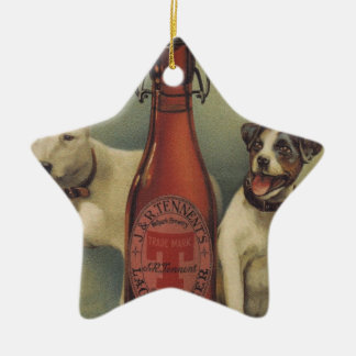 Original vintage beer poster christmas ornament