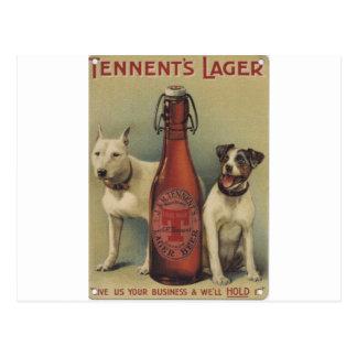 Original vintage beer poster postcard