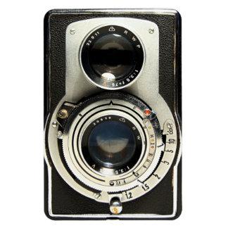 Original vintage camera rectangular photo magnet