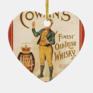 Original vintage Cowan irish whisky poster Christmas Ornament