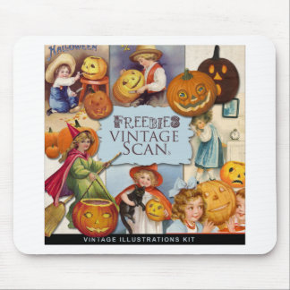 Original vintage halloween illustration mousepads