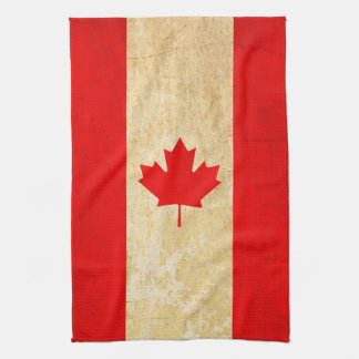 Original Vintage Patriotic National Flag of CANADA Tea Towel