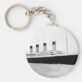Original vintage photo of Titanic Basic Round Button Key Ring