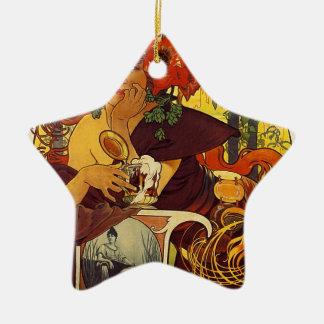 Original vintage poster: Bieres della meuse, Paris Christmas Ornament